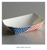 #25 1/4 lb. USA Flag Paper Food Tray - 1000/Case