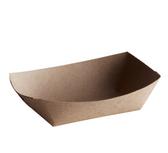 #25 1/4 lb. Natural Eco-Kraft Paper Food Tray - 1000/Case