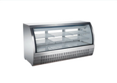 82-INCH REFRIGERATED FLOOR SHOWCASE WITH STAINLESS STEEL EXTERIOR