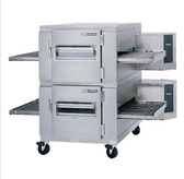 """Lincoln 1400-2G Impinger I 1400 Series  Double Conveyor Radiant Oven Package with 40"""" Long Baking Chamber - 240,000 BTU"""