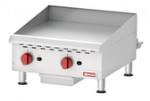 COUNTERTOP STAINLESS STEEL GAS GRIDDLE WITH MANUAL CONTROL WITH 2 BURNERS