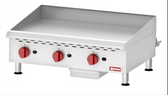COUNTERTOP STAINLESS STEEL GAS GRIDDLE WITH MANUAL CONTROL WITH 3 BURNERS