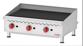 COUNTERTOP RADIANT GAS CHAR-BROILER WITH 3 BURNERS