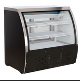 36-INCH REFRIGERATED FLOOR SHOWCASE WITH BLACK COATED STEEL EXTERIOR
