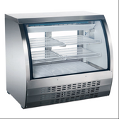 36-INCH REFRIGERATED FLOOR SHOWCASE WITH STAINLESS STEEL EXTERIOR