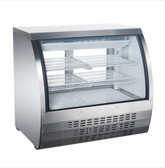 47-INCH REFRIGERATED FLOOR SHOWCASE WITH STAINLESS STEEL EXTERIOR