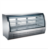 64-INCH REFRIGERATED FLOOR SHOWCASE WITH STAINLESS STEEL EXTERIOR