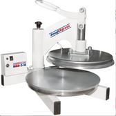 "DoughXpress DMS-2-18 18"" Dual Heated Manual Pizza / Tortilla Dough Press"