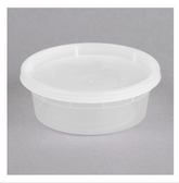 ChoiceHD 8 oz. Microwavable Translucent Plastic Deli Container and Lid Combo Pack - 240/Case