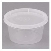 ChoiceHD 12 oz. Microwavable Translucent Plastic Deli Container and Lid Combo Pack - 240/Case