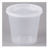 ChoiceHD 24 oz. Microwavable Translucent Plastic Deli Container and Lid Combo Pack - 240/Case