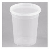ChoiceHD 32 oz. Microwavable Translucent Plastic Deli Container and Lid Combo Pack - 240/Case