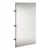 """Lavex Janitorial 24"""" x 42"""" Stainless Steel Urinal Partition"""