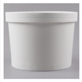 Choice 1/2 Gallon White Paper Frozen Yogurt / Food Cup with Paper Lid - 100/Case