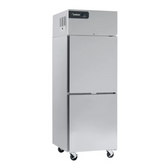"""Delfield GBF1P-SH Coolscapes 27"""" Top-Mount One Section Half Door Stainless Steel Reach-In Freezer - 21 cu. ft."""