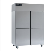 """Delfield GBSF2P-SH Coolscapes 55"""" Top-Mount Two Section Half Door Stainless Steel Reach-In Freezer - 46 cu. ft."""