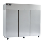 """Delfield GBSF3P-S Coolscapes 83"""" Top-Mount Three Section Solid Door Stainless Steel Reach-In Freezer - 71 cu. ft."""