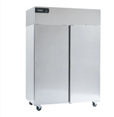 """Delfield GCF2P-S Coolscapes 55"""" Top-Mount Two Section Solid Door Reach-In Freezer - 46 cu. ft."""