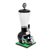 Beer Tubes FBK-ST-STAP 1/4 128 oz. Super Tube Black Football Helmet Beer Tower