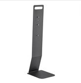 Lavex Janitorial Black Metal Soap / Sanitizer Dispenser Table Top Stand