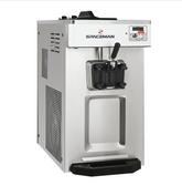 Spaceman 6236A-C Countertop Soft Serve Ice Cream Machine with Pressurized Air Pump, 1 Hopper, and 1 Dispenser - 208-230V