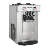 Spaceman 6235-C Soft Serve Countertop Ice Cream Machine with 2 Hoppers and 3 Dispensers - 208-230V