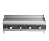 """Cooking Performance Group 48N Ultra Series 48"""" Heavy-Duty Chrome Plated Natural Gas 4-Burner Countertop Griddle - 120,000 BTU"""