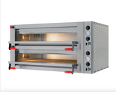 """Electric Countertop 41 3/8"""" Double Deck Pyralis Series Pizza Oven - 220V, 3 Phase, 18 kW"""