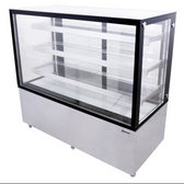 60-INCH SQUARE GLASS FLOOR REFRIGERATED DISPLAY CASE