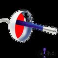 Epee Complete French Grip - v-shaped FOLO
