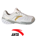 ANTA White and Gold Fencing Shoe