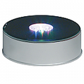 Mirrored Silver Revolving Turntable 4""