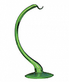 """Hanging Stand - Blown Glass Green 9"""""""
