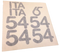 Vinyl Sail number set with application backing