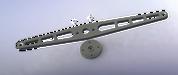 Laser Cut Aluminum Asymmetric Control arm with Hitec c1 spline adapter plate