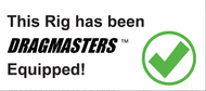 "1-1A OFFICIAL 8.5"" X 3.75"" DRAGMASTERS HIGH GLOSS WHITE VINYL STICKER"