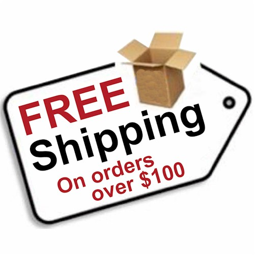 Free shipping on orders over $100!!