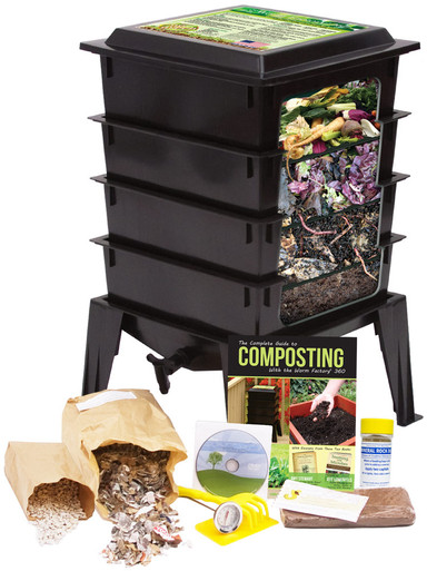Worm Factory Worm Composting Bin - Black