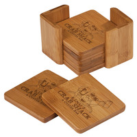 Custom Bamboo Coaster Set (Set of 6)