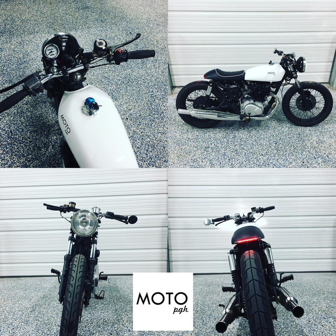 (SOLD)(986) MOTO PGH White Bomber 1976 Honda CB500t
