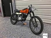 """(SOLD)(975) 1975 Suzuki TS185 """"Agent Orange"""" Cafe Racer"""