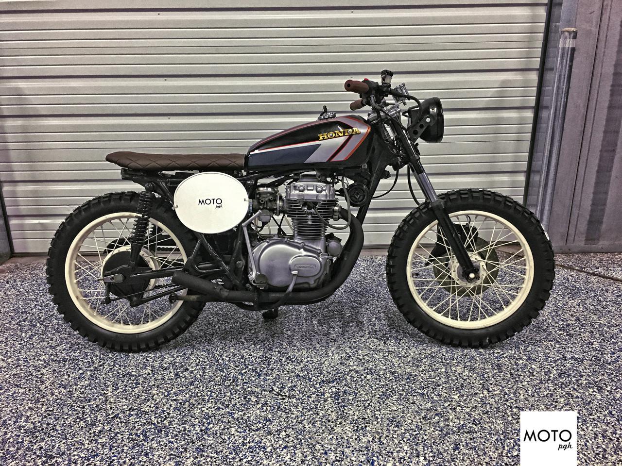 SOLD974 1975 Honda CB360 Brat Street Tracker Brat36