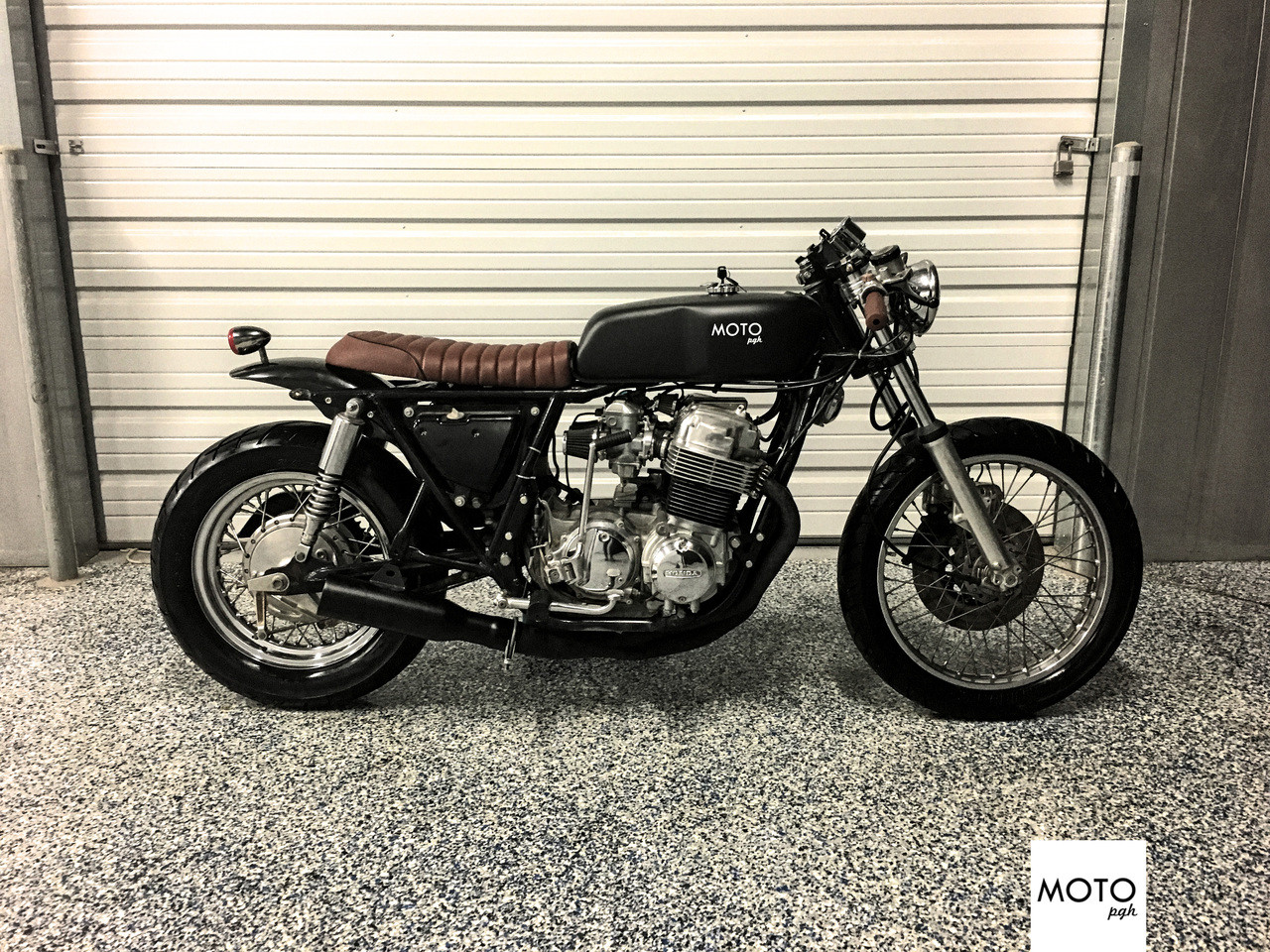 SOLD971 MOTO PGH 1978 Honda CB750k Cafe Racer The Black Tan