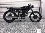 (SOLD)(964) 1972 Honda CB350 Black on Black Cafe Racer