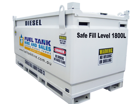 2000 litre diesel tank for hire self bunded oil tank. Black Bedroom Furniture Sets. Home Design Ideas