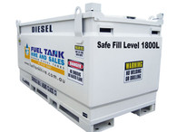 Self Bunded Diesel Fuel & Oil Tank 2000 Litre - NEW MODEL - 1 LEFT