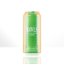 BAWLS Ginger Ale 16 oz 12 pack