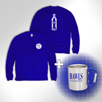 Blue BAWLS Long Sleeve & BAWLS Mug Bundle