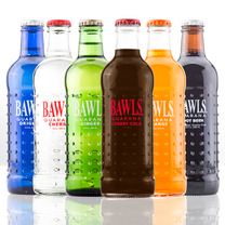 BAWLriet Bottle Pack includes 2 Cherry Cola, 2 Ginger, 2 Orange, 2 Root Beer, 2 Cherry, and 2 Original BAWLS bottles.