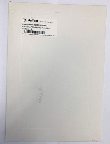 New fused silica/PEEK capillary tubing, 75 um, 50 cm for Agilent capillary HPLC. Fits 1100 and 1200 Agilent HPLC models.